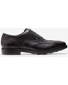 Cambridge Leather Wingtip Oxfords
