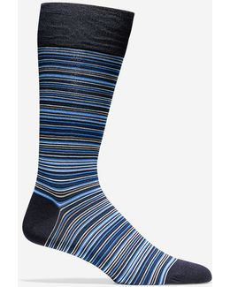 Multi-stripe Crew Socks