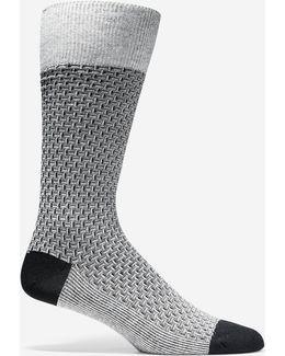 Dog Bone Texture Crew Socks