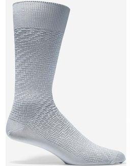 Woven Texture Crew Socks