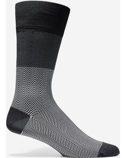 Herringbone Color-block Socks