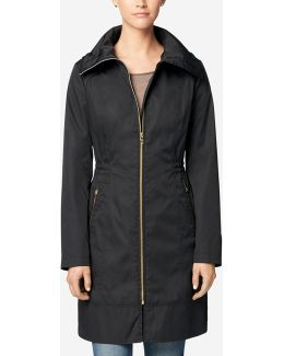 Single Breasted Packable Rain Jacket