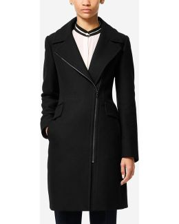 Italian Double-faced Wool Asymmetric Jacket