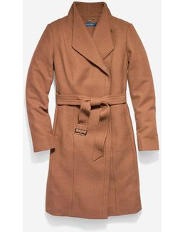 Italian Double-faced Wool Molded Collar Coat