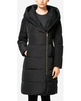 Signature 40-inch Convertible Collar Asymmetric Coat