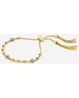 Waters Edge Swarovski Teardrop Pull Tie Bracelet