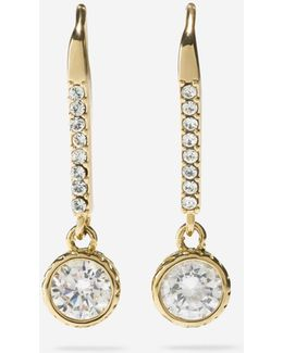 Starry Skies Cz Linear Drop Earrings