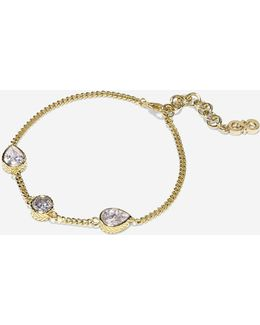 Starry Skies Three-stone Cubic Zirconia Line Bracelet