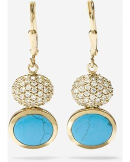Spring Street Fashion Semi-precious Double-drop Earrings