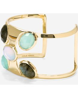 Water Under The Bridge Semi-precious Statement Cuff