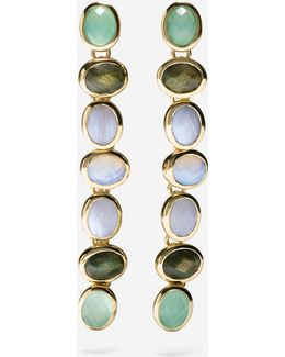 Water Under The Bridge Semi-precious Linear Earrings