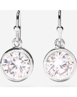 Cz Single Drop Earrings