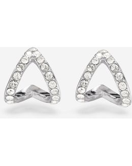 Love Triangle Swarovski Triangle Earrings