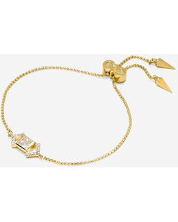 Love Triangle Cz Triangle Chain Pull-tie Bracelet