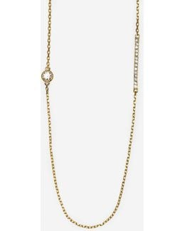 Brilliant Cubic Zirconia Long Station Necklace