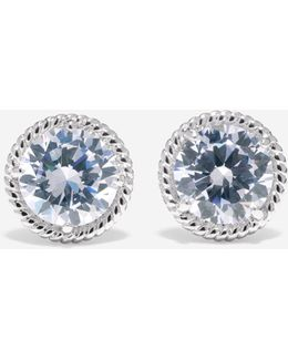 Brilliant Cubic Zirconia Round Stud Earrings