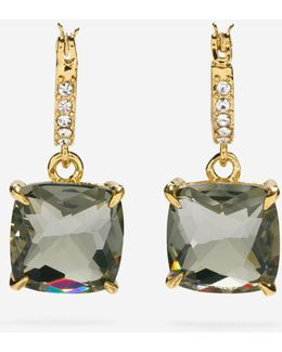 Brilliant Cubic Zirconia Pavé Hoop Cushion Cut Earrings