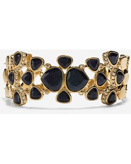 Garden At Midnight Statement Pavé Bracelet