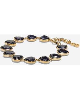 Garden At Midnight Stone Line Bracelet