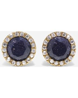 Garden At Midnight Stone Stud Earrings