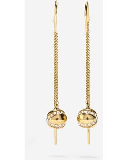 Set The Ball In Motion Swarovski Threader Earrings