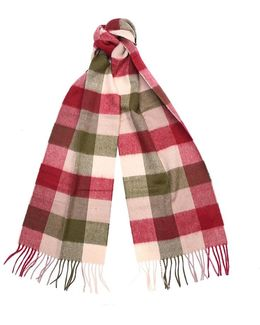 Large Tattersall L/wool Scarf