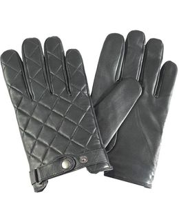 Quilted Ladies Leather Gauntlet