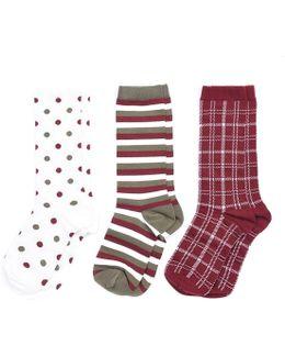 Spot Stripe Ladies Sock Set
