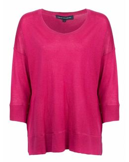 Spring Light Knits Long Sleeve Scoop Neck Womens Jumper