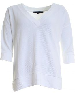 Spring Sudan Long Sleeve V-neck Womens Top