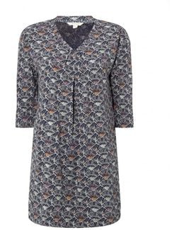 Fan Print Womens Jersey Tunic