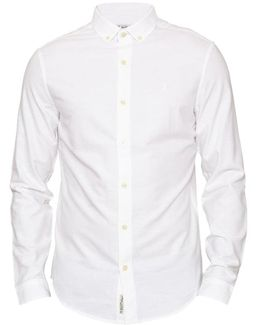 Brushed Oxford Long Sleeve Mens Shirt