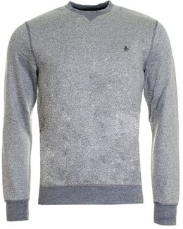Tri-colour Mouline Loopback Mens Sweatshirt