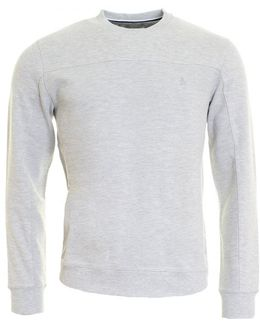 Textured Panelled Mens Sweatshirt