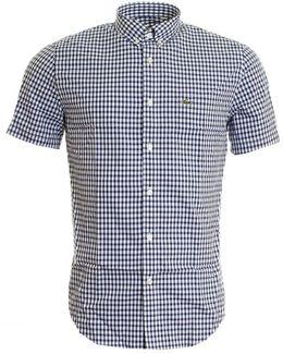Gingham Check Bd Short Sleeve Mens Shirt