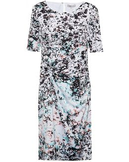 Miquita Marble Rouched Womens Dress
