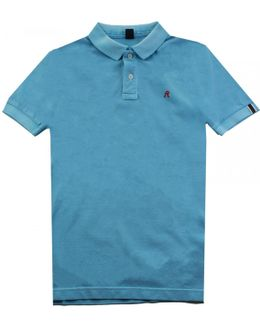 Garment Dyed Pique Mens Polo Shirt