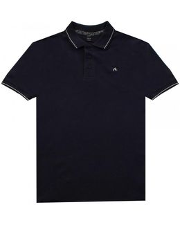 Solid Stretch Pique Mens Polo Shirt