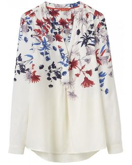Rosamund Printed Womens Blouse (x)