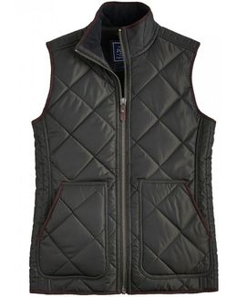 Grove Fleece Lined Quilted Mens Gilet (x)