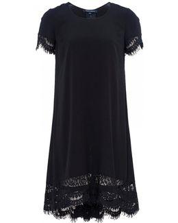 Classic Crepe Light Woven Ss Tunic Womens Dress