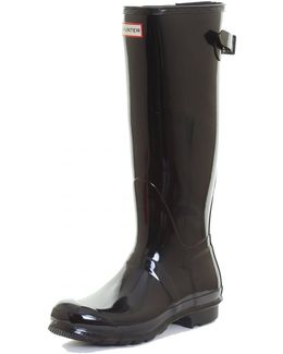 Original Back Adjustable Gloss Ladies Wellington Boots