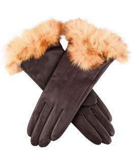 Amelia Hairsheep Fur Cuff Ladies Glove