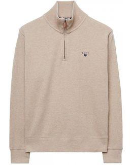 Sacker Rib Mens Half Zip Sweater