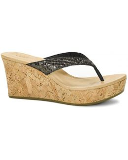 Natassia Metallic Basket Ladies Sandal