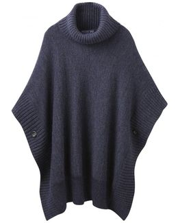 Oriell Knitted Ladies Poncho (v)