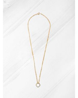 18k Gold Ring On 9k Chain