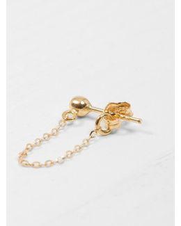 18k Gold Round Earring