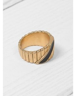 Black & Gold Ingot Ring