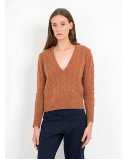 Cicely Shetland Wool V Neck Ju